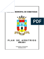 Plan de Arbitrios 2011