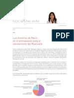 """Informe """"Las mentiras de Macri en el presupuesto para el saneamiento del Riachuelo"""""""