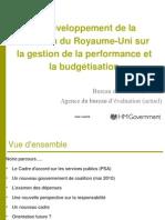 Le développement de la réflexion du Royaume-Uni sur la gestion de la performance et la budgétisation