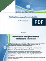 Budget de performance  Réalisations, expériences et défis
