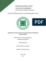 Resume Proyecto - Tesis Experiencia Profesional