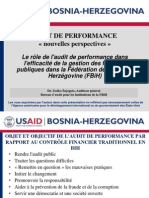 AUDIT DE PERFORMANCE  « nouvelles perspectives »