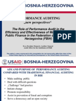 "PERFORMANCE AUDITING ""new perspectives"""