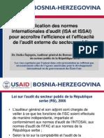 Application des normes internationales d'audit (ISA et ISSAI) pour accroître l'efficience et l'efficacité de l'audit externe du secteur public