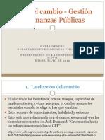 Elegir el cambio - Gestión de Finanzas Públicas