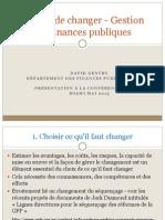 Choisir de changer - Gestion des finances publiques