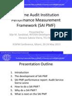 Supreme Audit Institution Performance Measurement Framework (SAI PMF)