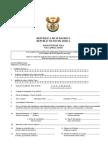 Formulario Visa Sudafrica BI84
