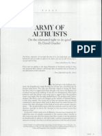 Graeber - Army of Altruists - On the Alienated Right to Do Good