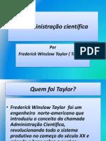 A Administração científica taylor