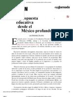 La Jornada_ Una propuesta educativa desde el México profundo