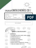 Evaluacion Sumativa de Matematica Unidad 2 Multiplicaciones Cuarto 2013 Para Internet
