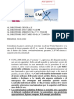 20120828 FVM SMI Grave Carenza Di Personale , Stato Di Emergenza