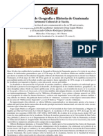 90 aniversario Academia de Geografía e Historia de Guatemala