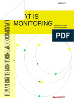 What is monitoring?