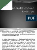 Identificación del lenguaje JavaScript