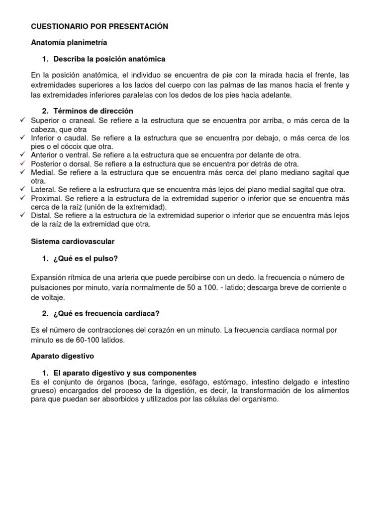 CUESTIONARIO POR PRESENTACIÓN
