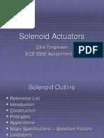 Solenoid Actuators