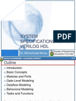 2-System Specifications Using Verilog HDL