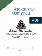 ProyectoEducativo2008, Colegio Alta Cumbre