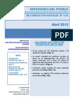 58reporte Mensual de Conflictos Sociales n 110 Abril