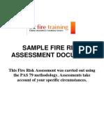 PAS 79 Sample Risk Assessment