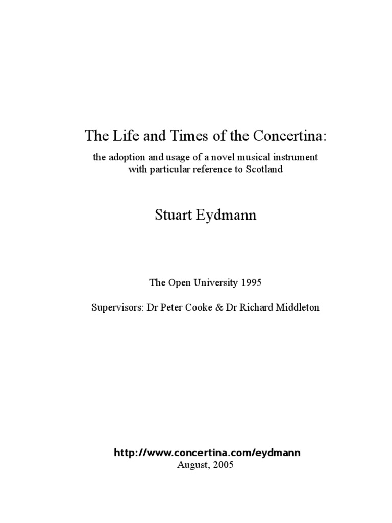 Concertina - Life and Times of - 365-Pages | Musicology | Musical ...