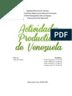 Actividades Economicas de Venezuela