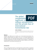 The Global Reorganization of Legitimate Violence Military Entrepreneurs and Private Face of International Humanitarian Law