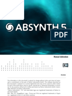Absynth 5 Manual Addendum English