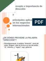 Concepto e Importancia de La Direccion (Administracion )