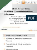 Factores críticos del éxito de una iniciativa de inteligencia empresarial en Venezuela
