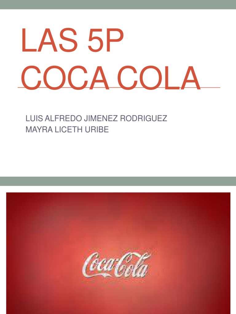 4 ps of cocacola company Marketing mix of coca cola analyses the brand/company which covers 4ps ( product, price, place, promotion) and explains the coca cola marketing strategy.
