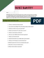 Art Interest Survey