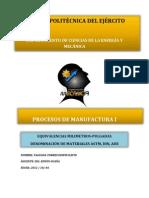 Deber 3 Procesos de Manufactura
