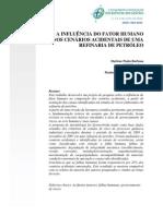 A INFLUÊNCIA DO FATOR HUMANO NOS CENÁRIOS ACIDENTAIS DE UMA REFINARIA DE PETRÓLEO