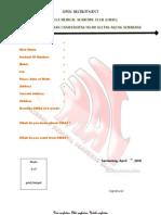 Apllycation Form UMAC