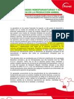 Enfermedades Hemoparasitarias y Su Influencia en La Produccion