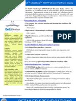 Dell UltraSharp 2007FP Monitor Spec Sheet