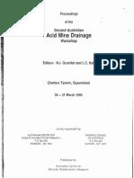 Acid Mine Drainage Workshop - 1995