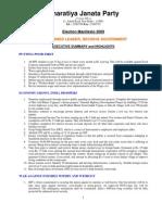 B J P Manifestos main points