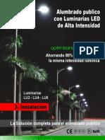 Luminarias Led Streetlight Instalacion Espanol