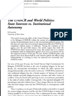 Loescher (2001) the UNHCR and World Politics- State Interests vs. Institutional Autonomy- IMR IMR