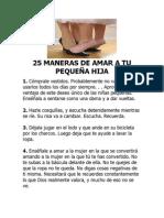 25 MANERAS DE AMAR A TU PEQUEÑA HIJA