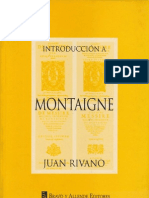 Introduccion a Montaigne