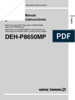 Pioneer Deh p8650mp Esp