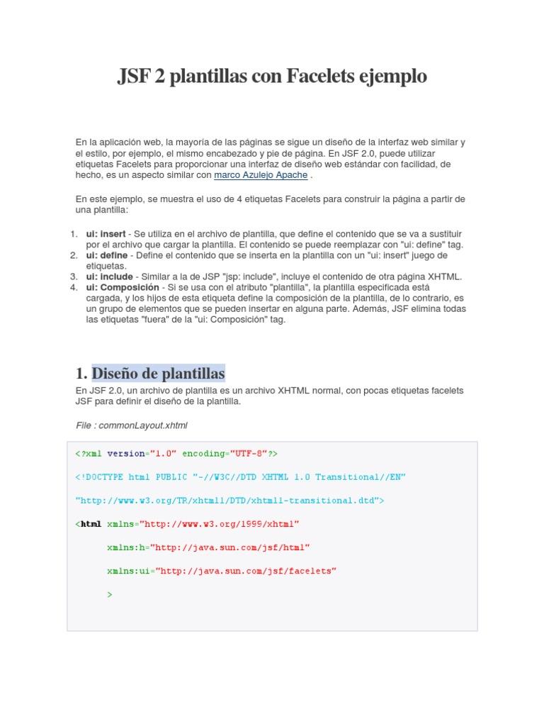 Bonito Plantilla Xhtml Colección - Ejemplo De Colección De ...