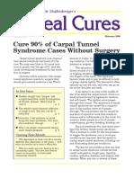 Cure90%ofCarpalTunnelSyndromeCasesWithoutSurgery