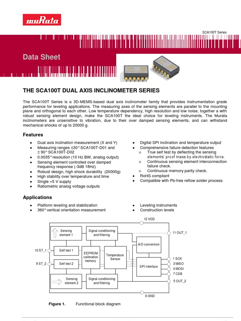 Sca100t Inclinometer Datasheet 8261800b2 0 Printed Circuit Board Wiring Diagram Electrical Engineering