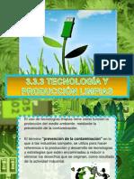 3.3.3 Tecnologia y Produccion Limpias, 3.3.4 Ecodiseno